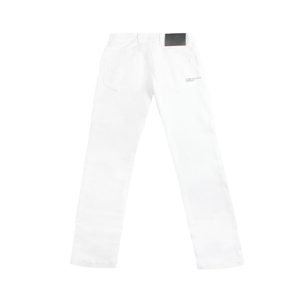 nuovo arrivo f9dc2 0dbc4 Pantalone denim bianco bambino