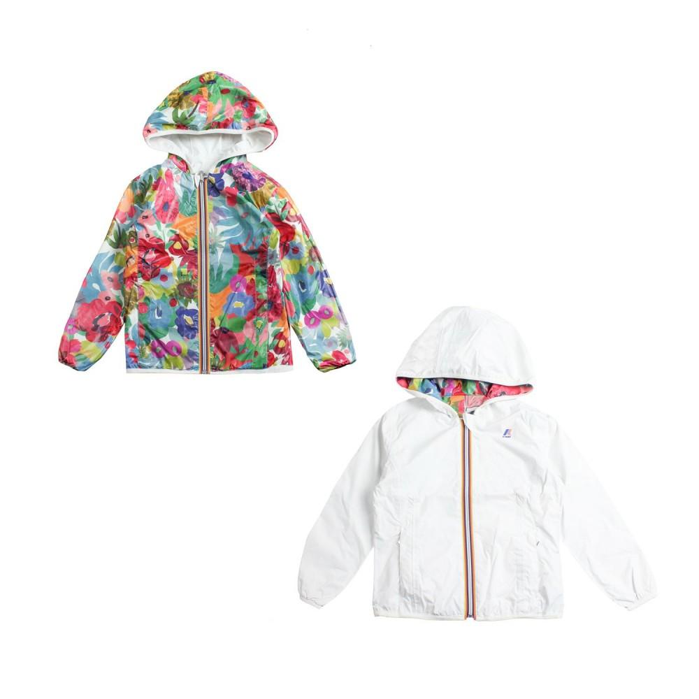 df308ad0f K-way - Girls reversible nylon raincoat by K-way Kids - Ivana Vesprini
