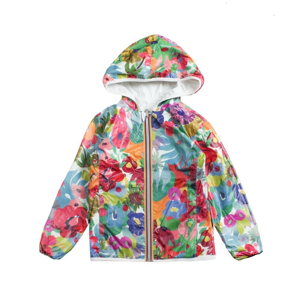 892128b98eb K-way - Girls reversible nylon raincoat by K-way Kids - Ivana Vesprini