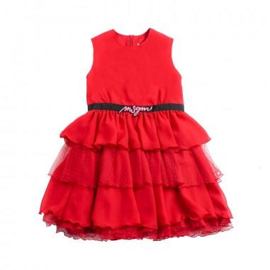 MSGM GIrl chiffon & tulle dress by MSGM Kids 01817219msgm19