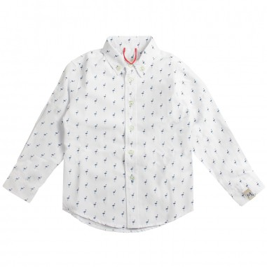 Myths Boys white animals cotton shirt 33c156my19