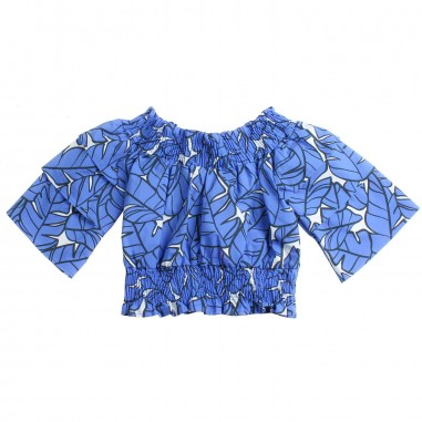 MSGM Girls blue top by MSGM Kids 01813119msgm19