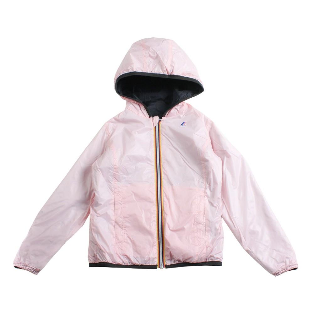 ff20200366d K-way - Girl black & pink reversible jacket by K-way Kids - Ivana ...