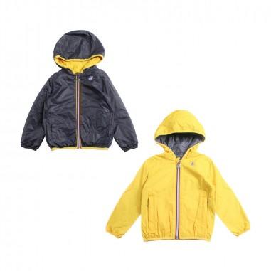 K-Way Yellow & blue windbreaker jacket by K-way Kids k002xp0a4919