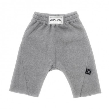 Nununu Kids grey cotton boxing bermuda shorts by Nununu nu2157nununu19
