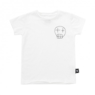Nununu Kids jersey embroidered skull t-shirt by Nununu nu2103nununu19