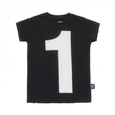 Nununu Kids unisex black cotton t-shirt by Nununu nu2104nununu19