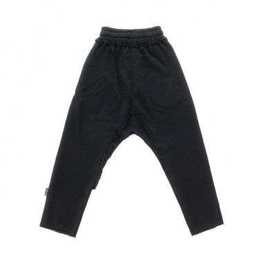 Nununu Kids unisex black raw cotton joggers by Nununu nu2171nununu19