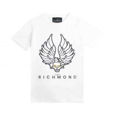 Richmond T-shirt bianca bambino teschio by John Richmond Kids rbp19137ts19rich19