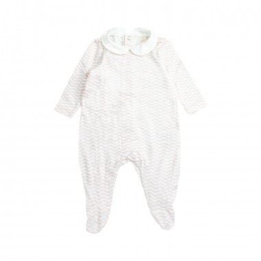 Filobio White & pink patterned babysuit by Filobio gioiato29filo19