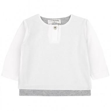 1+ In the Family T-shirt baby cotone organico antonwhite19onemore