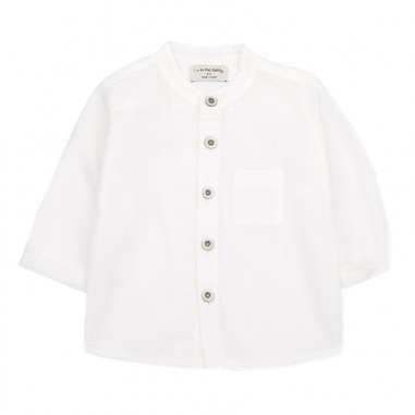 1+ In the Family Camicia cotone neonato bianca amadeooffwhite19onemore