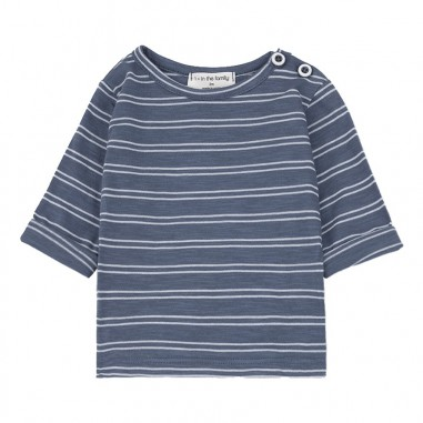1+ In the Family Baby blue striped t-shirt haroldindigo19onemore