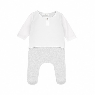1+ In the Family Newborn two-tone cotton babysuit xabierwhite19onemore