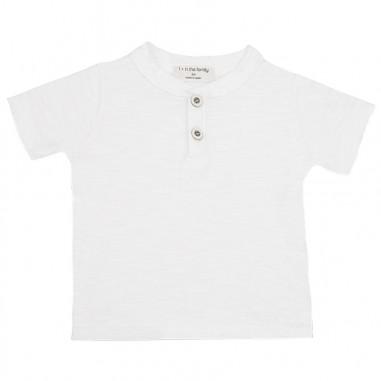 1+ In the Family T-shirt serafino neonato cotone ximooffwhite19onemore