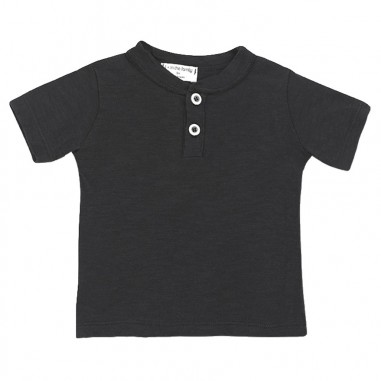 1+ In the Family Newborn black cotton t-shirt ximoblack19onemore