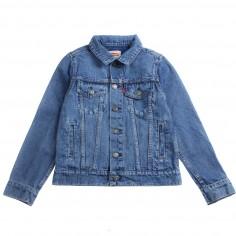 e0b4e26184d Levi's Boys blue denim trucker jacket trucktea by Levi's Kids  nn4004746levis19
