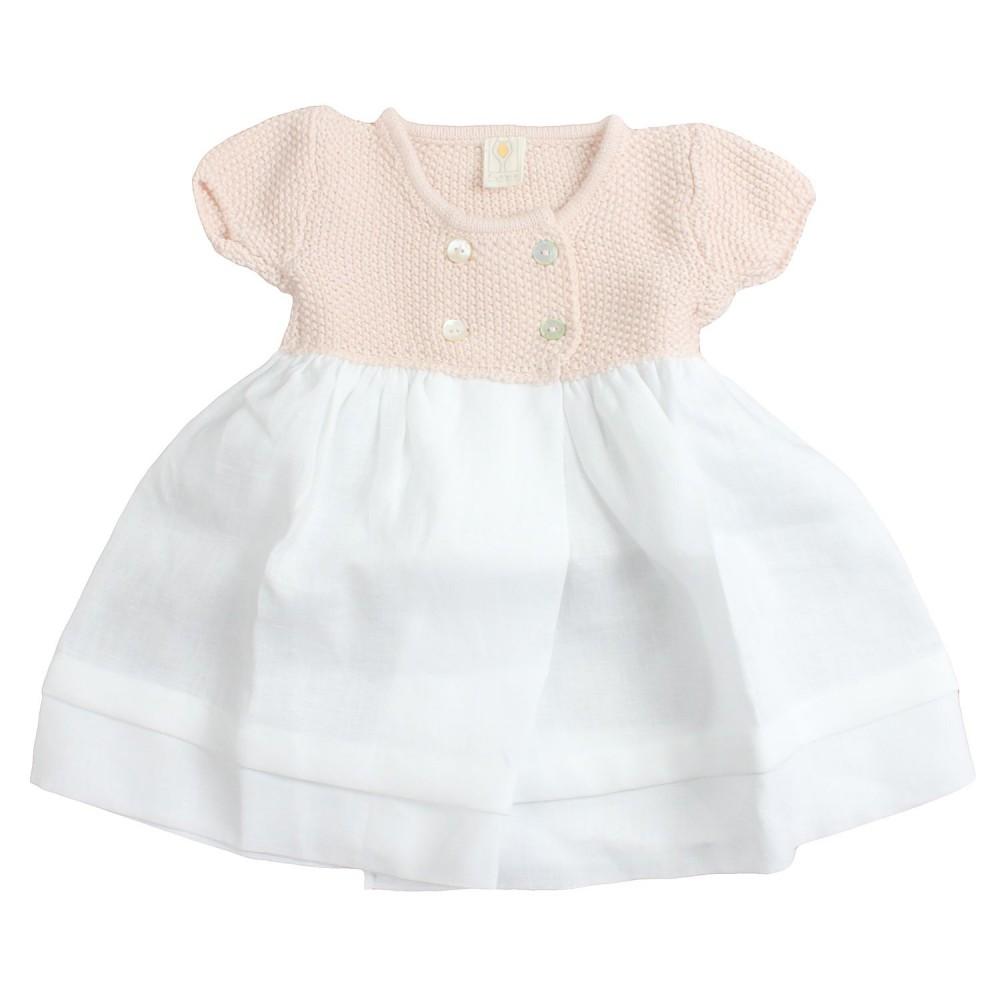 buy popular ffb0b 2d35a Abito baby lino e filo rosa by Filobio