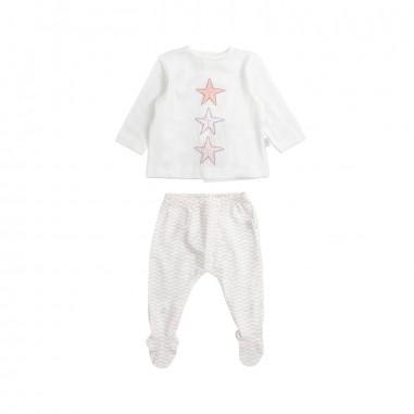 Filobio Baby girl white stars 2 piece babysuit by Filobio bornts29rosfilo19