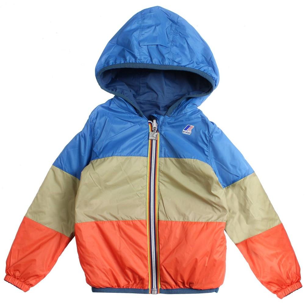 c0fdc1c18 K-way - Boys reversible nylon windbreaker jacket by K-way Kids ...