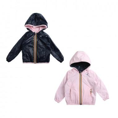 489a1f5e02b Girls blue & pink double-face windbreaker jacket by K-way Kids
