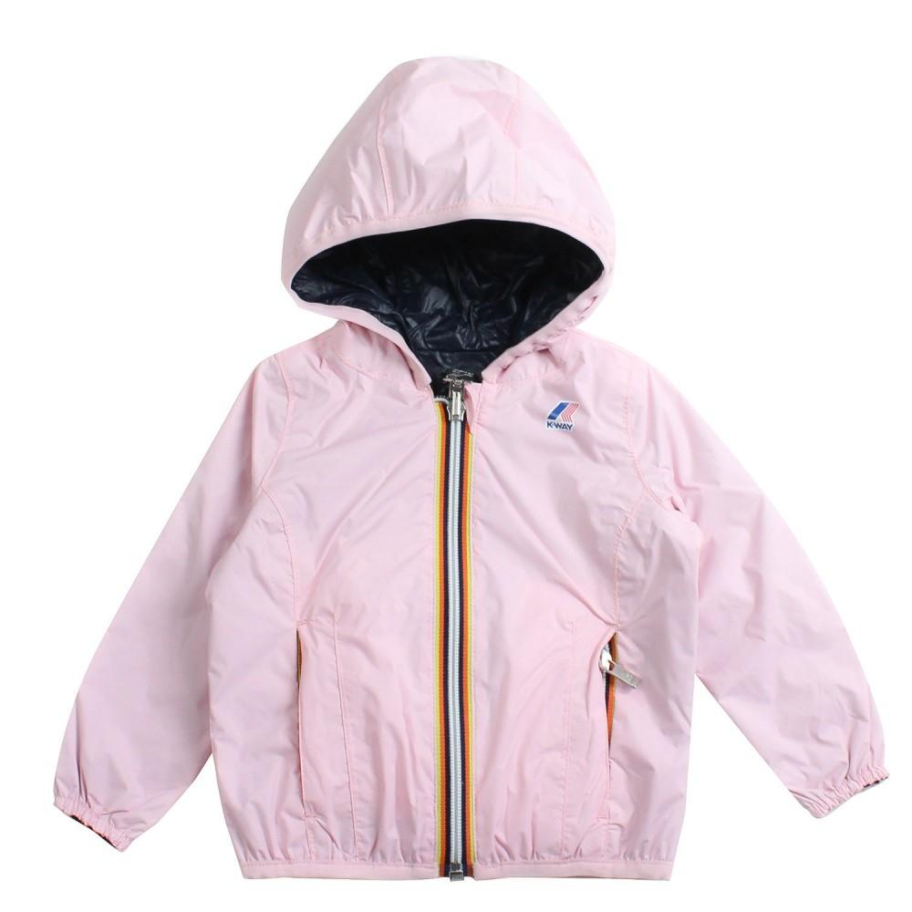 daba00a3c36 K-way - Girls blue & pink double-face windbreaker jacket by K-way ...