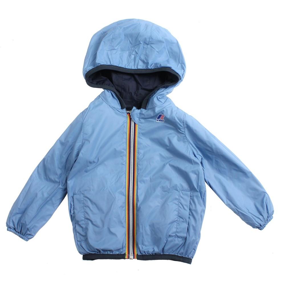 13f9373f5b7 K-way - Unisex blue & azure windbreaker jacket by K-way Kids - Ivana ...