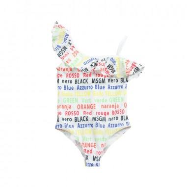 MSGM Costume intero lycra bianco bambina by MSGM kids 01905919msgm19