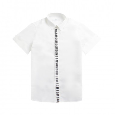 MSGM Boys white popeline shirt by MSGM Kids 01856819msgm19