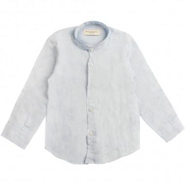 Paolo Pecora Boys azure linen shirt pp1843-azzpaolo19