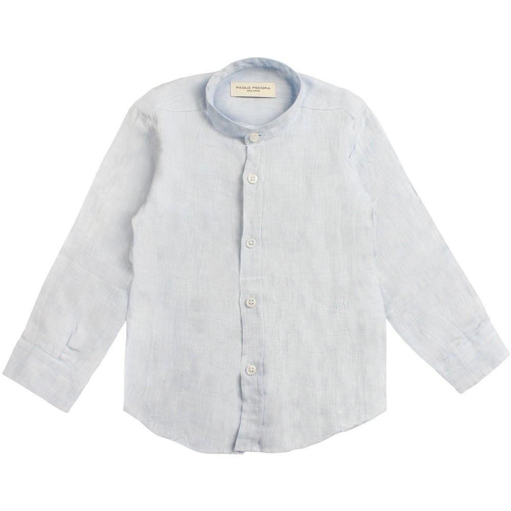wholesale dealer cf3f6 33633 Camicia lino azzurra bambino