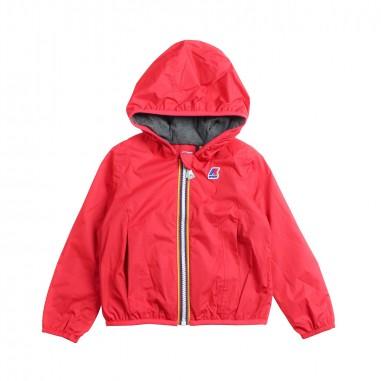 72d868cb4 K-way - Girl hooded windbreaker jacket by K-way Kids - Ivana Vesprini