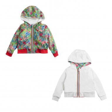 41d79cb6c01 Girls double-face hooded sweatshirt by K-way Kids
