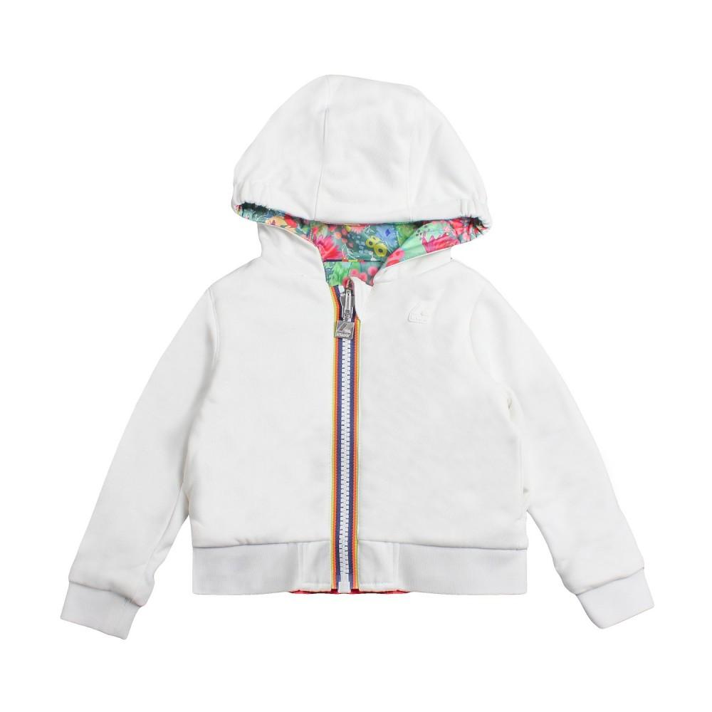 fd46f241e78 K-way - Girls double-face hooded sweatshirt by K-way Kids - Ivana ...
