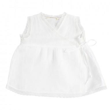 Babe&Tess Casacca lino bianca neonata - Babe&Tess li02onemore19