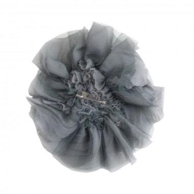 Caffè d'Orzo spilla fiore tulle grigio by Caffè d'orzo zita-grigio19caffe