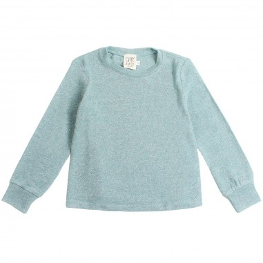 Caffè d'Orzo Girl lurex teal sweater by Caffè d'orzo lara19caffe
