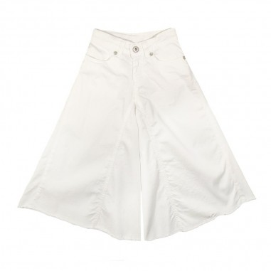 Dixie Kids Pantalone gabardine bambina bianco by Dixie Kids ph24132g16dixie19