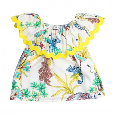 Dixie Kids Top bambina giallo fantasia by Dixie Kids cc39364g16dixie19