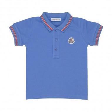 Moncler Bay Boy Logo Polo Shirt  D19518306605