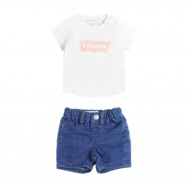 Levi's Set t-shirt & shorts jeans per neonata by Levi's Kids nn3751499levis19
