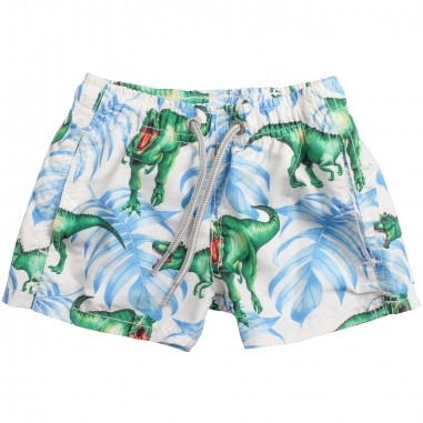 ec1951e408f8f Mc2 Saint Barth Boy dinosaurs white swim trunks by Mc2 Saint Barth Kids  jeanveganmc219