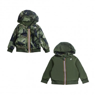 07aae63ab K-way - Boys reversible camouflage hoodie by K-way Kids - Ivana Vesprini