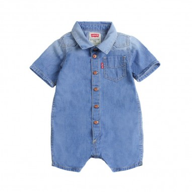 7860b159dd8 Levi s Blue denim baby rompers by Levi s Kids nn3301446levis19