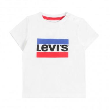 Levi's T-shirt bianca con logo per bambini hero by Levi's Kids nn1000401levis19