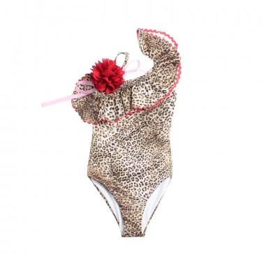 Monnalisa Girls leopard print swimsuit by Monnalisa 99300919-19-8044monna19