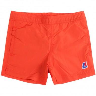 6bd48b15c95 Boys orange sateen swim trunks by K-way Kids