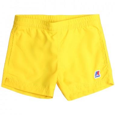K-Way Boys yellow sateen swim trunks by K-way Kids k0088g010919