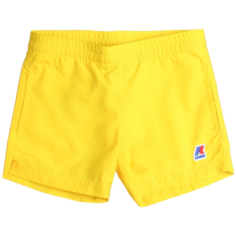 d1851892248 K-way - Boys yellow sateen swim trunks by K-way Kids - Ivana Vesprini