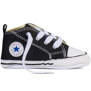Converse Kids Newborn black chuck taylor first star babyshoes by Converse Kids 8J231conv19